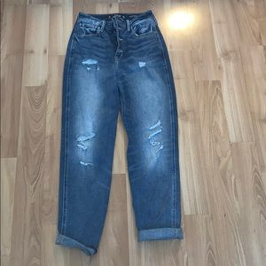 High Rise Hollister Mom Jeans